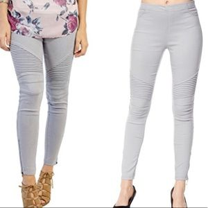 Pants - NWT Grey moto leggings